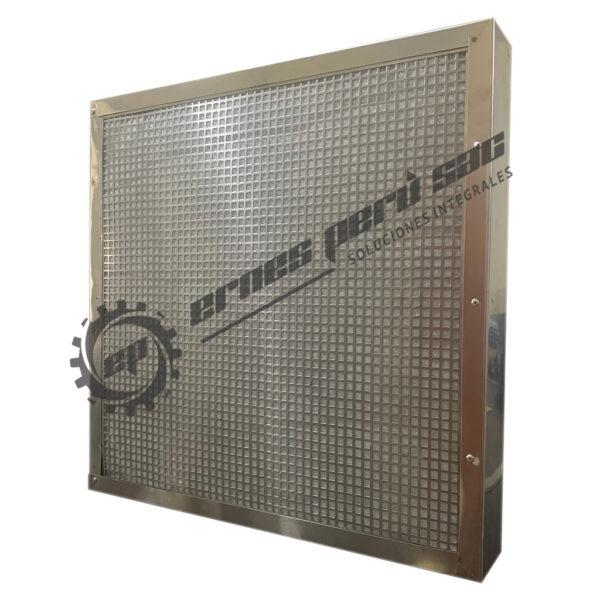 Filtro panel de carbón activado granulado de alto caudal